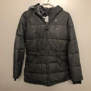Columbia puffer jacket floral gray